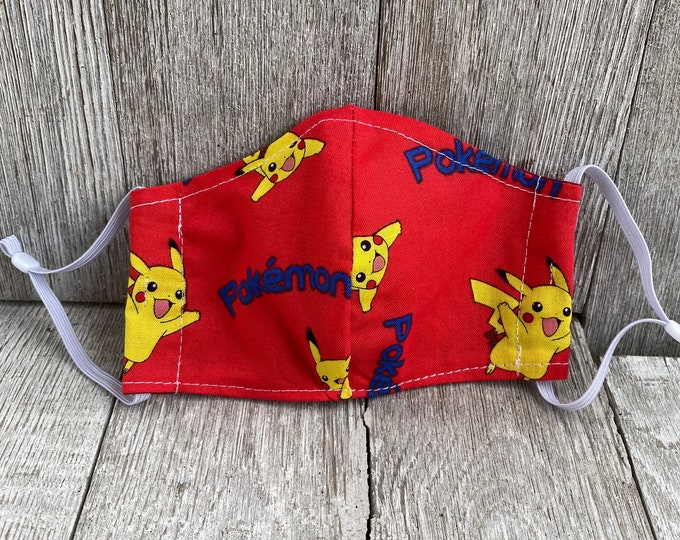 Kids pokemon Face Mask