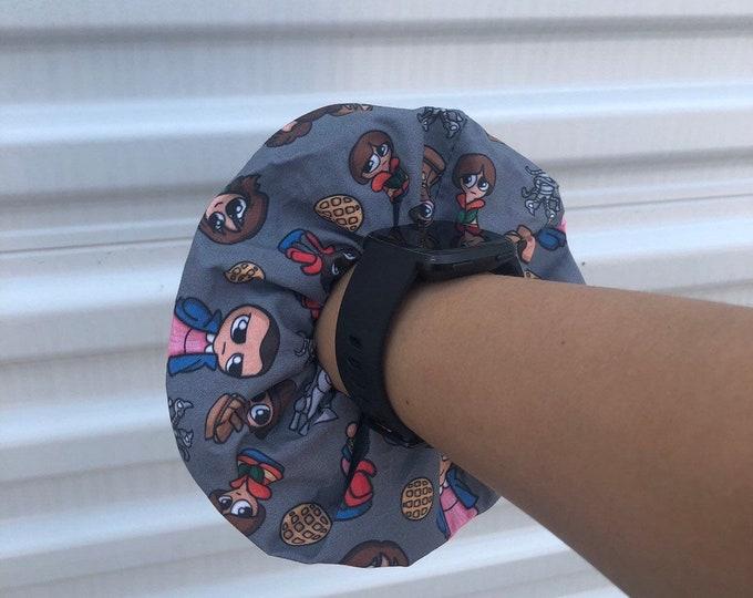 Over sized Stranger Things Scrunchie Stranger Things hair tie Stranger Things gift idea