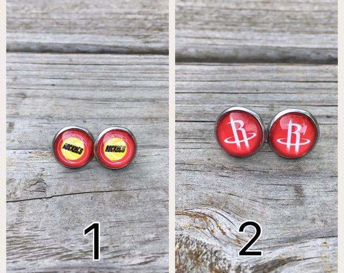 Houston Rockets Stainless Steel Stud Earrings Houston Rockets fan gift Houston Rockets girl gift