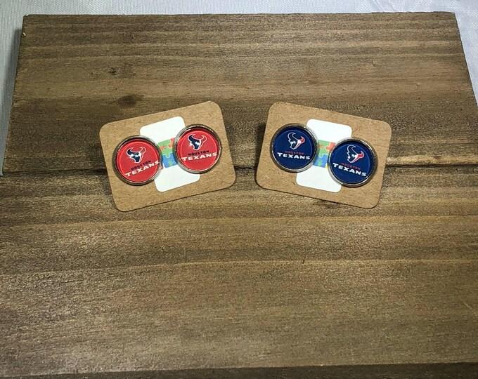 Houston Texans Stud Earrings Houston  Houston Texans Gift Houston Texans Fan