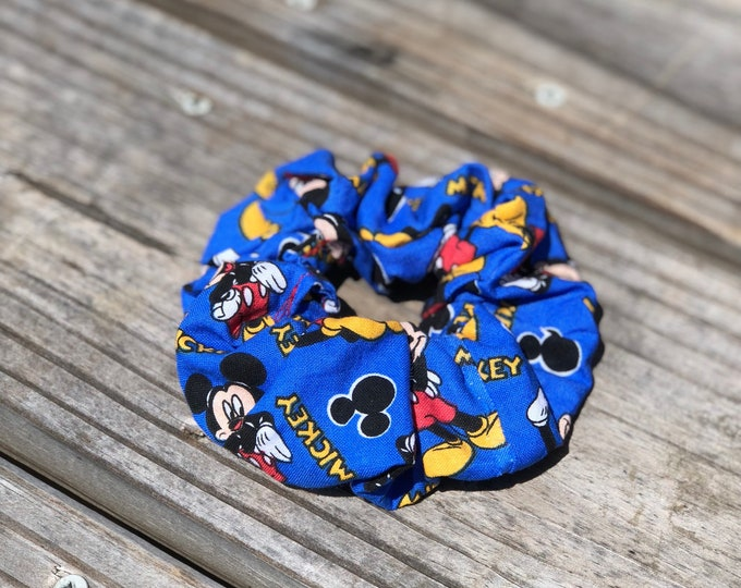 Mickey Mouse Hair Tie Mickey Mouse scrunchie Mickey Mouse gift Mickey Mouse fan gift Stocking Gift idea Christmas gift Idea Stocking stuffer