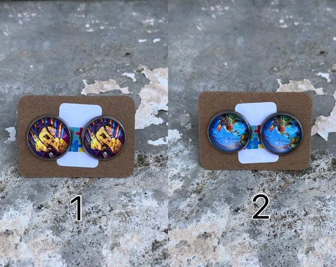 Astroworld earrings Travis Scott earring Astrowoarld gift idea Travis scott gift Idea