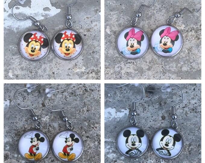 Mickey Mouse earrings Minnie Mouse Earrings mickey Mouse gift idea Minnie Mouse gift idea