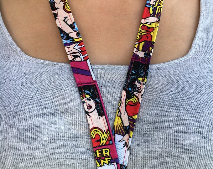Wonder women lanyard, Wonder Women Key chain, Wonder Women Gift Stocking Gift idea Christmas gift Idea Stocking stuffer