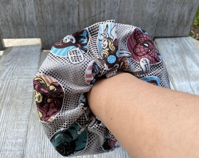 Marvel scrunchie Marvel hair tie Marvel gift idea Stocking Gift idea Christmas gift Idea