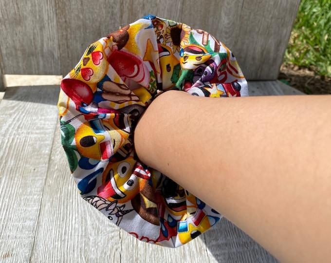 Emoji scrunchie Emoji hair tie Emoji gift