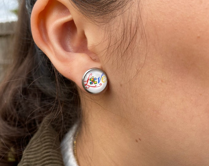 Autism awareness earrings Autism earrings