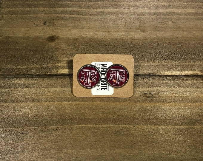 A&m aggie stainless steal stud earrings Stocking Gift idea Christmas gift Idea Stocking stuffer