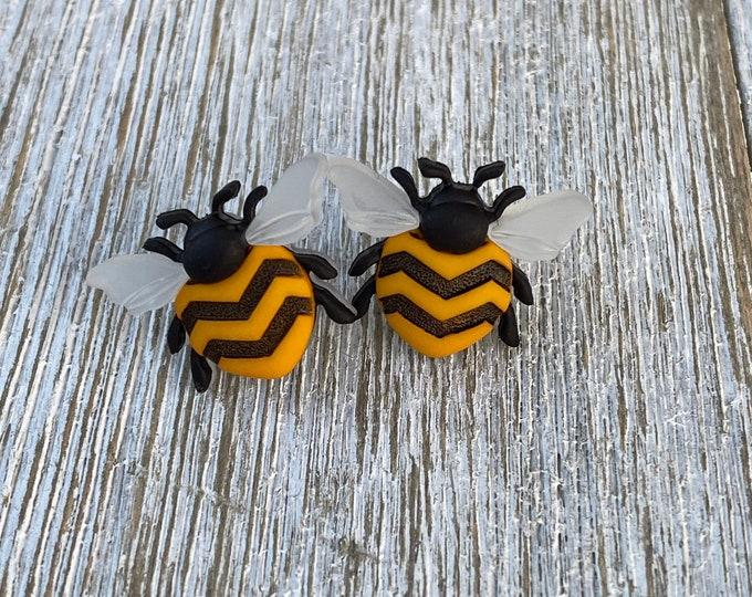 Large Bee earrings bee love bee gift