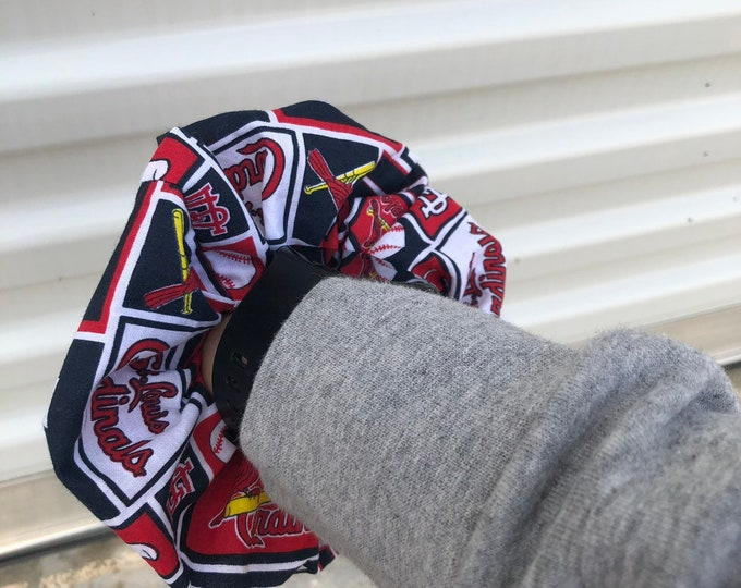 Cardinals scrunchie Cardinals hair tie Cardinals Accessory St Louis Cardinals gift Idea