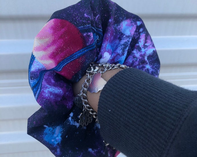 Space scrunchie Galaxy hair tie solar system gift