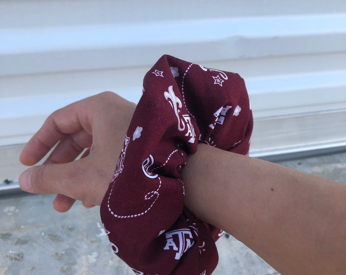 Over sized A&M scrunchie or hair tie ATM scrunchie ATM hair tie ATM gift idea