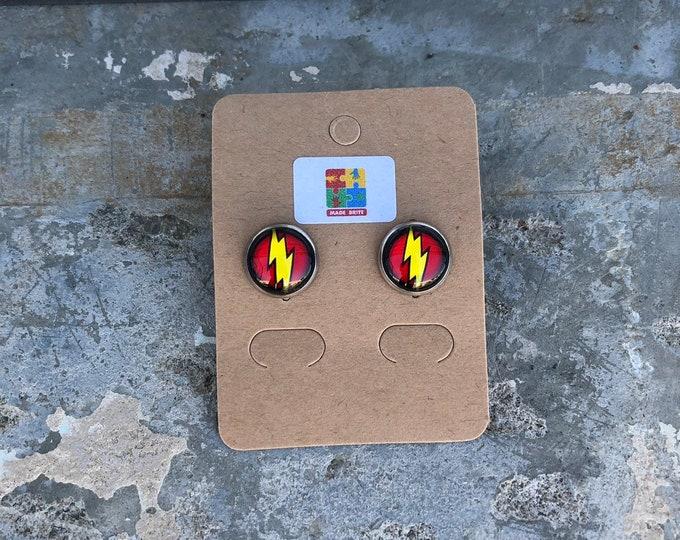 Flash earrings Flash gift idea dc comics gift idea flash gift idea dc comics earrings