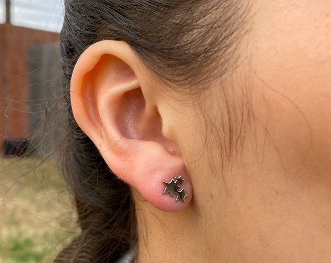 Star earrings Star cluster earrings
