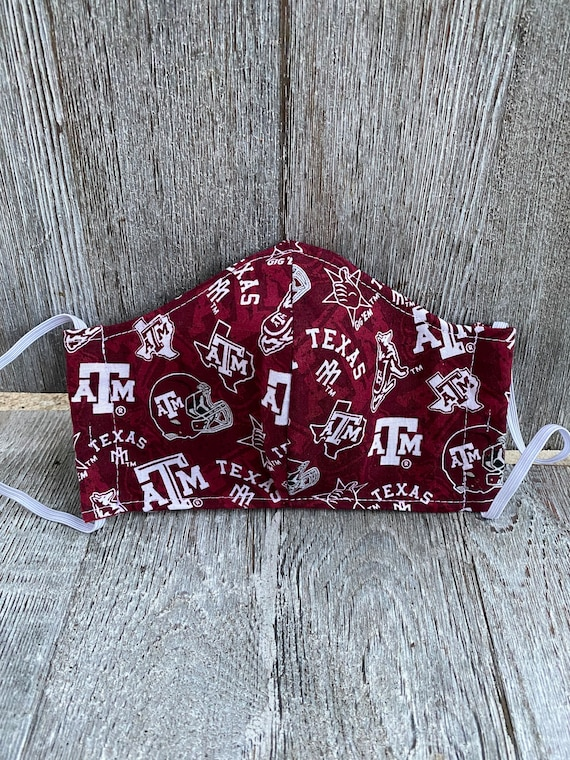Adult Texas A&M oversized  adult face mask