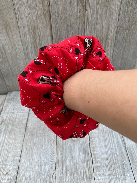 Over Sized Minnie Mouse hair tie Minnie Mouse gift Minnie Mouse scrunchie