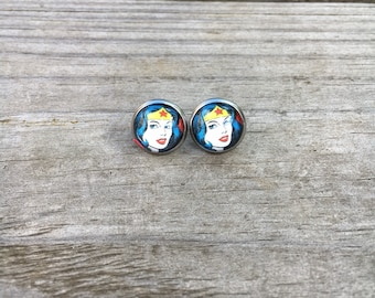 Wonder women stainless steel earrings