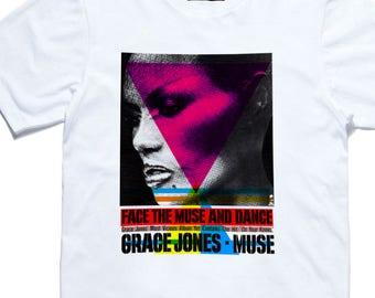 Grace Jones - Muse T shirt  - Queer, Gay, Disco, Gay Icon, disco Diva, Disco, Gay Art