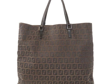 60084265e5 Authentic Vintage Fendi Zucca Tote Bag