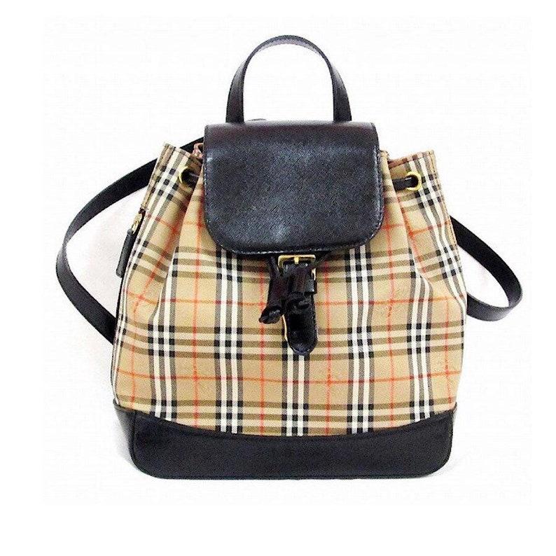 5849978a4cb5 Authentic Vintage Burberry Nova Check Mini Backpack