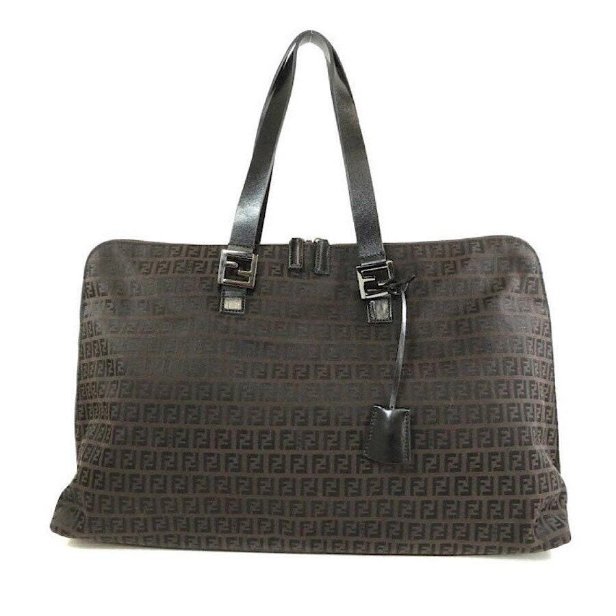 2b1c9952dcb8 Authentic Vintage Fendi Zucca Tote Travel Bag