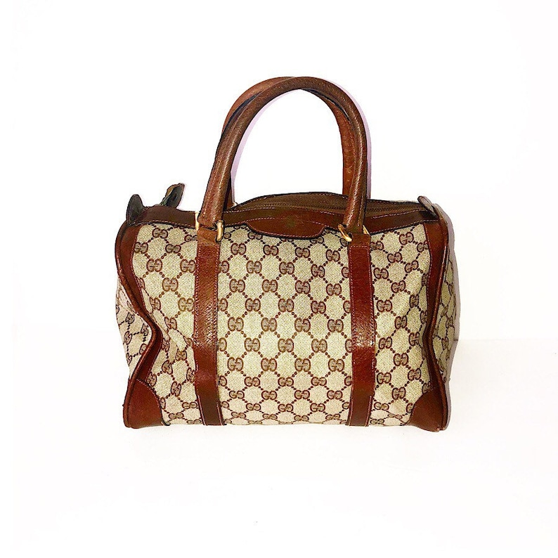 2e1814355d4f Authentic Vintage Gucci Monogram GG Mini Boston Bag