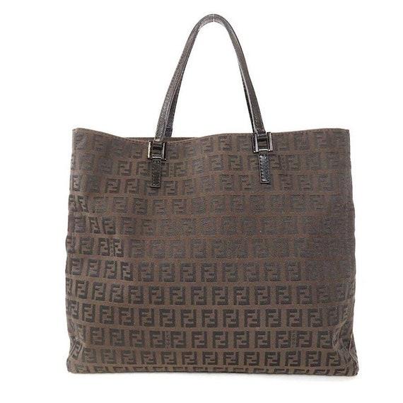 04cf562d72 Authentic Vintage Fendi Zucca Tote Bag