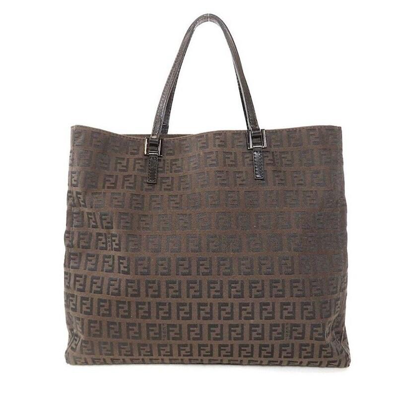 45583f5b574b Authentic Vintage Fendi Zucca Tote Bag