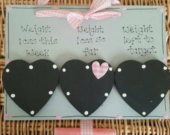 Weight loss countdown plaque slimming diet sign wooden handmade weight loss track new gift