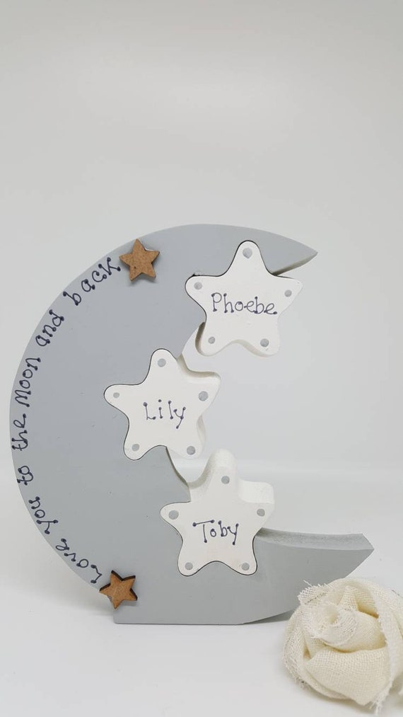 Personalised New Baby Vest Christening Present Gift Moon And Back