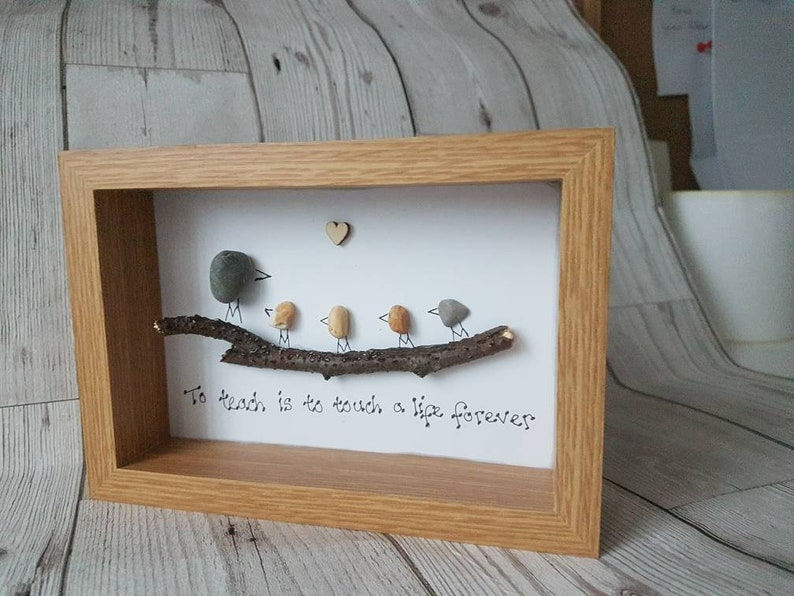 Teacher gift To teach is to touch a life forever READY TO POST pebble art