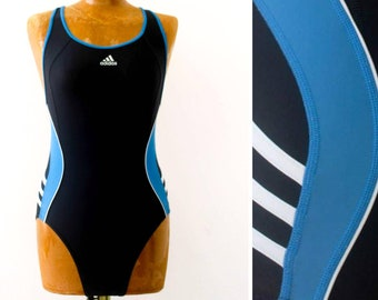 4c3b7165930a5a Old School Adidas One Piece Swimsuit Bathing Suit Women High Cut Swimsuit  90s Adidas Vintage Swim Wear Womens Bathing Suit Adidas Bikini S