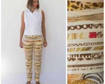 Salvatore Ferragamo Vintage Trousers Wild Animal Giraffe Zebra Cheetah  Leopard Print Ankara Pants Animal Crossing Regular Fit South Africa e6eced29304b0