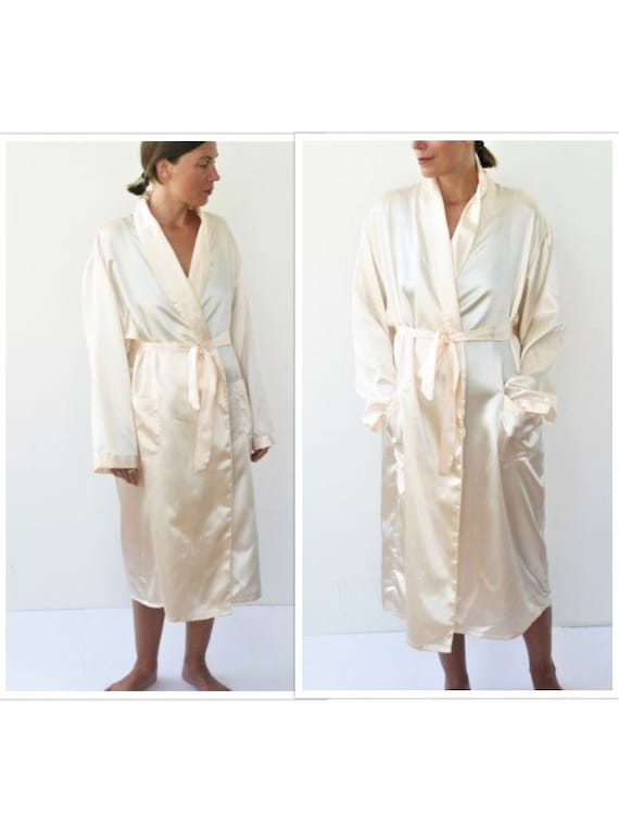 Silk Dressing Gown Long Silk Robe Bridal Robe Silk Kimono Robe | Etsy