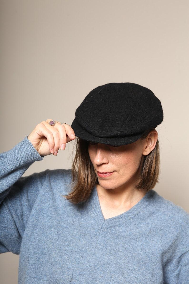 9d03e6d397bf6 Vintage Nike Cap Black Wool Newsboy Cap Newsboy Hat Bucket Hat