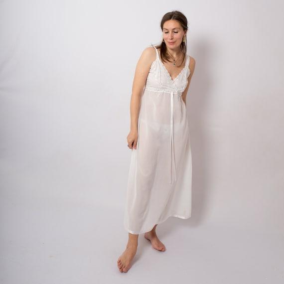 Pierre Cardin Cotton Nightgown Long Slip Dress Nig