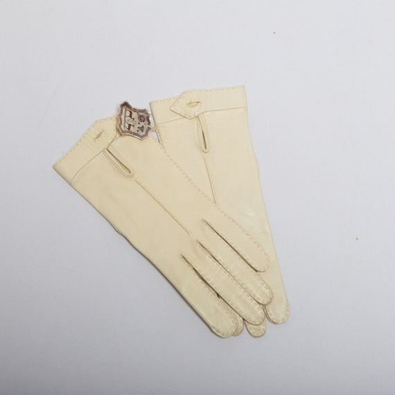 White Leather Leather Gloves Opera Leather Gloves