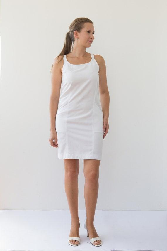 White Pinafore Dress White Jumpsuit Women Sundress Playsuit Etsy
