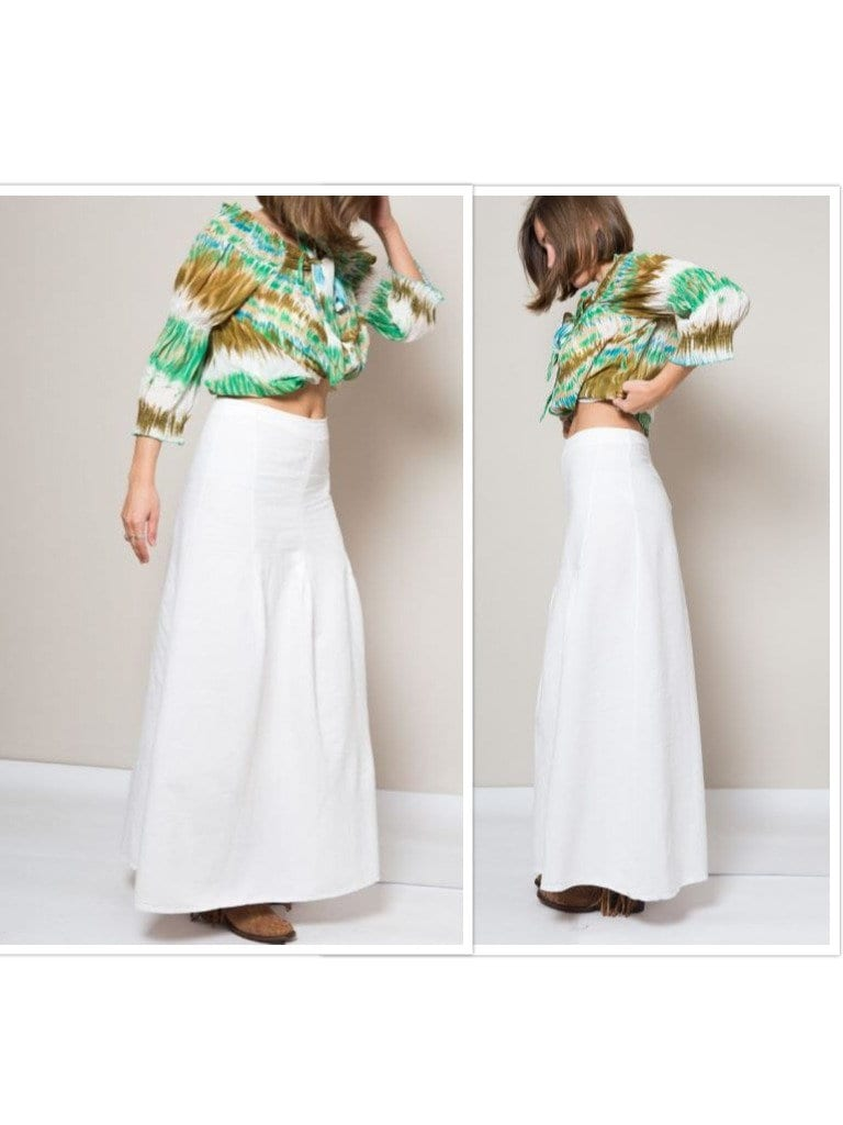 Fashion style White Long skirt hippie pictures for woman