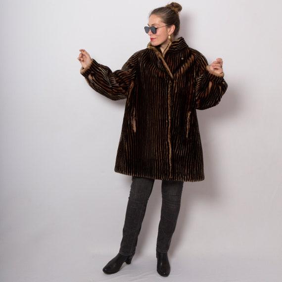 RARE Sheepskin Coat Sheepskin Fur Coat Teddy Jacke