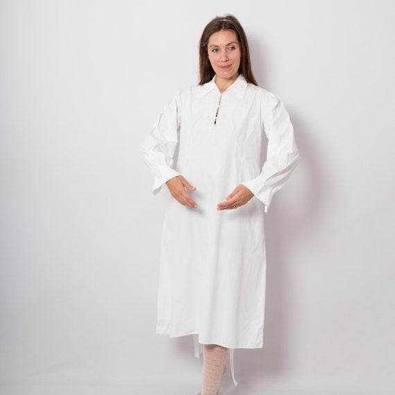 Victorian Nightgown White Cotton Nightgown Edwardi