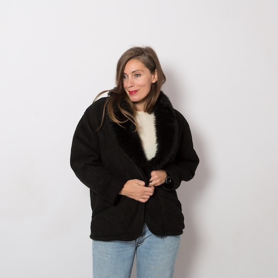 Oversized Shearling Jacket Sheepskin Coat Shearlin