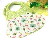 Bavoir - toucans et ananas - baby bib - cadeau naissance - baby shower gift