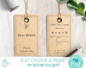Personalized//Customized 150pcs Cirular Price Tag Designed Paper Hanging Tag 48mm