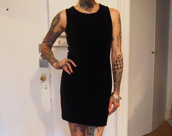 MOSCHINO cheap and chic 80's velvet mini dress
