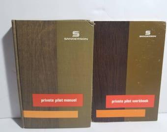 Vintage Sanderson Private Pilot Manual and Workbook Set