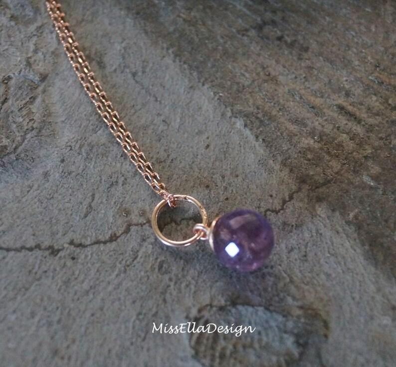 Earrings Amethyst 925 Silver Ros\u00e9vergoldet