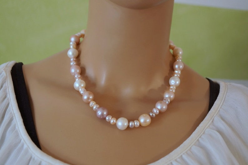 Pearl necklace pastell 925 silver