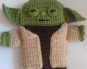 "Cell phone Cover Yoda of Star Wars7 ""Amigurumi, crochet cellphone holder, gift for him, gift for her, Christmas gift, birthday gift"