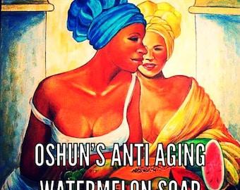 Oshun's Anti-Aging Watermelon Facial Soap